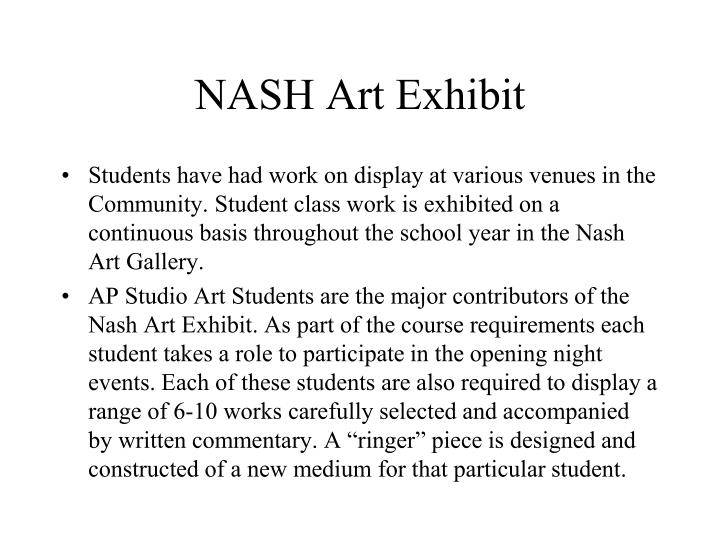 NASH Art Exhibit