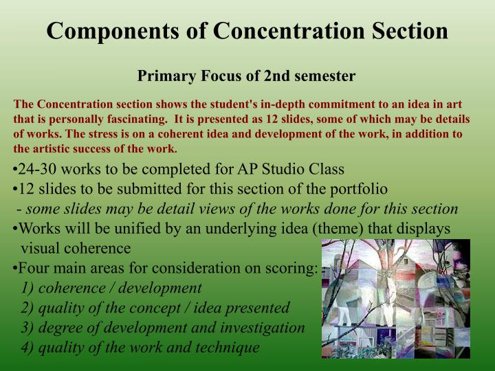 Components of Concentration Section