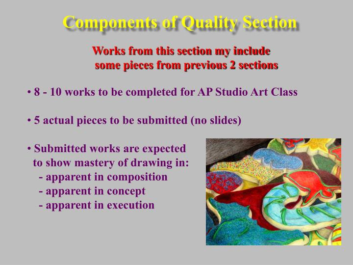 Components of Quality Section
