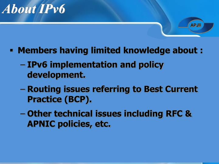 About IPv6