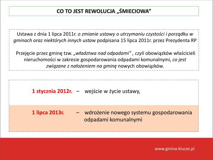 """CO TO JEST REWOLUCJA """"ŚMIECIOWA"""""""