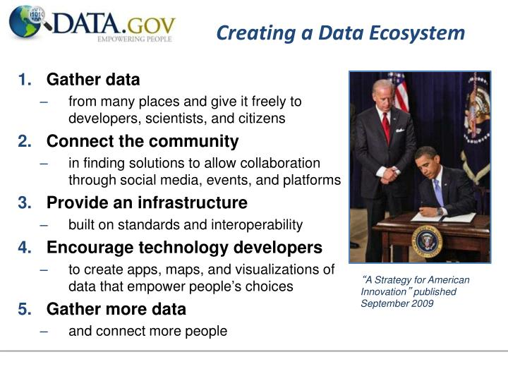 Creating a data ecosystem