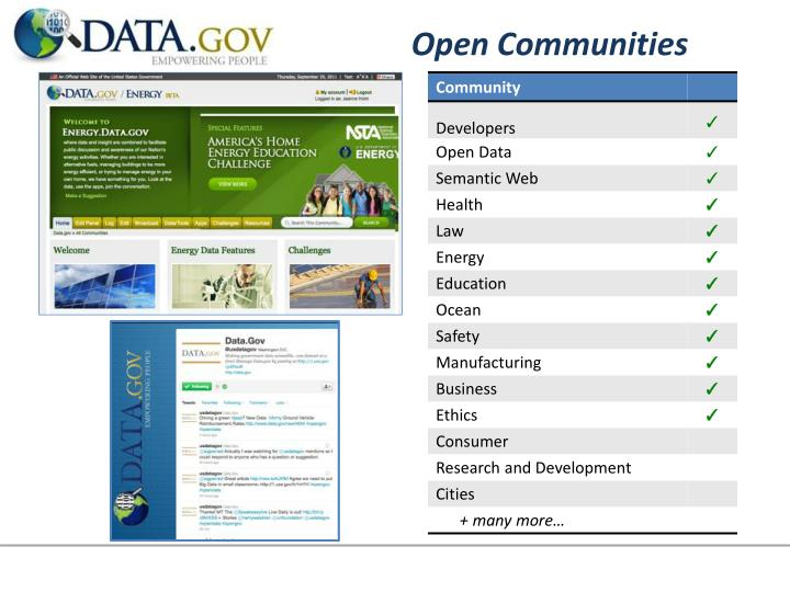 Open Communities