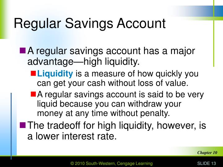 Regular Savings Account