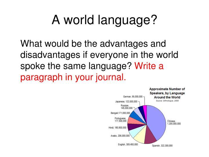 A world language?