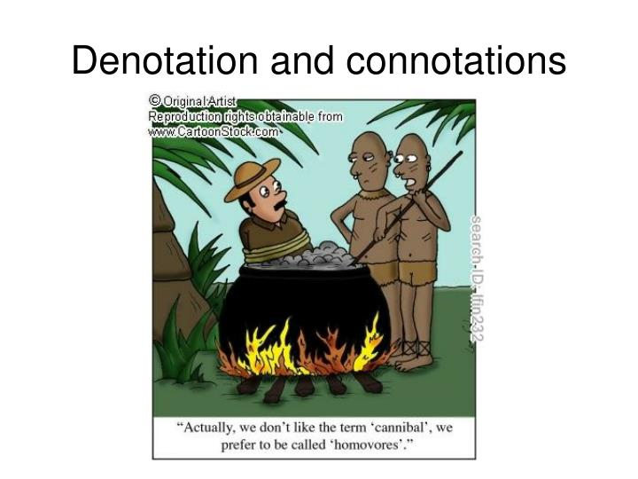 Denotation and connotations