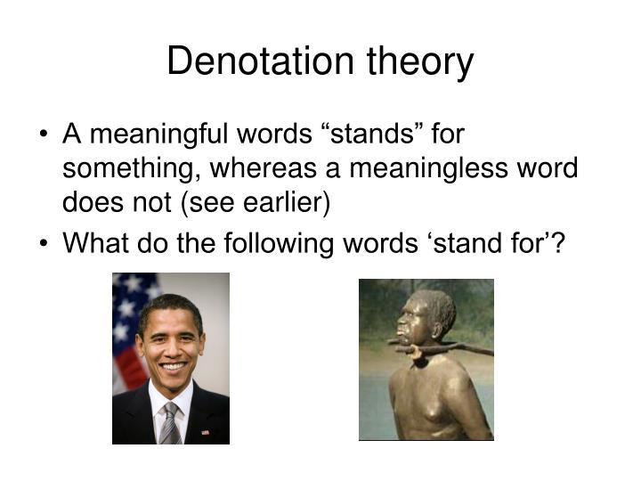 Denotation theory