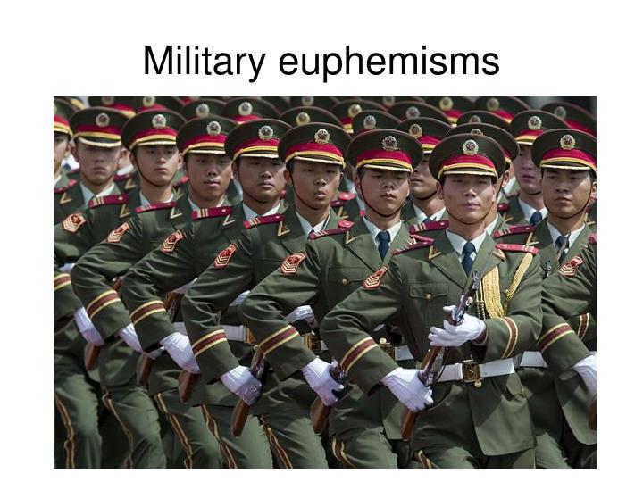 Military euphemisms