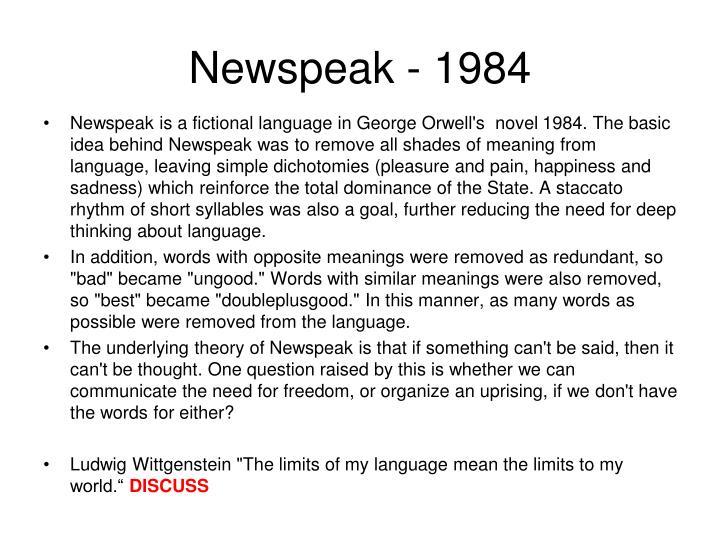 Newspeak - 1984