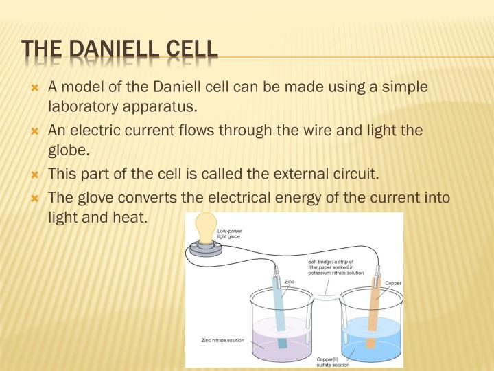 A model of the Daniell cell can be made using a simple laboratory apparatus.