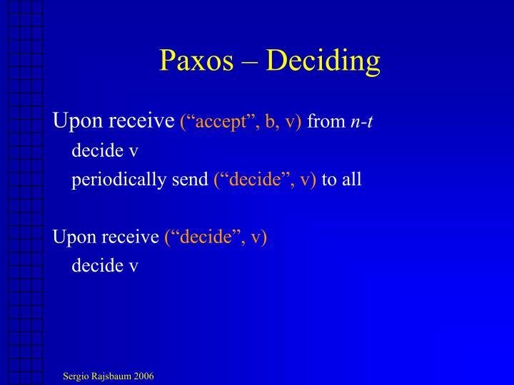Paxos – Deciding