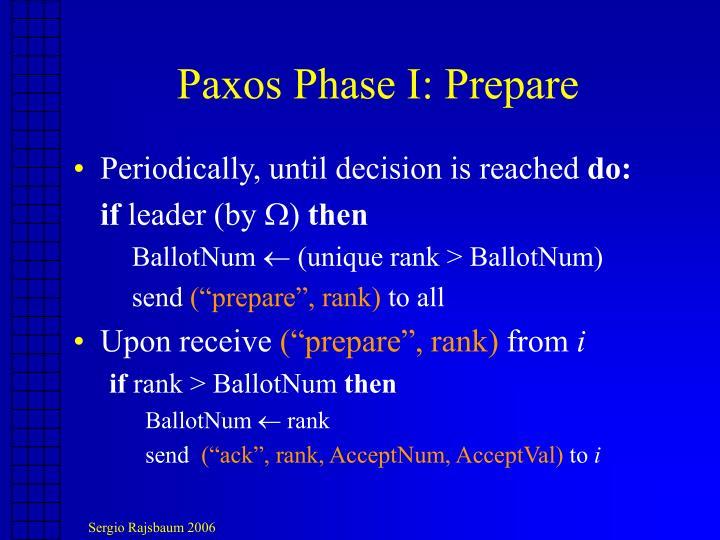 Paxos Phase I: Prepare