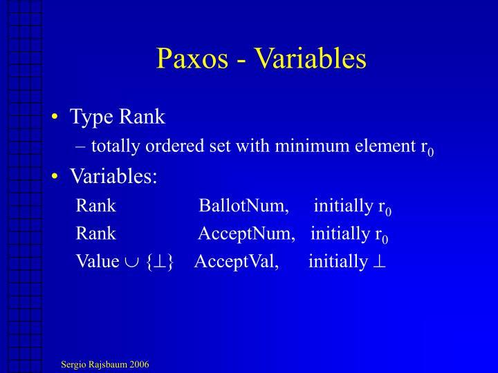 Paxos - Variables