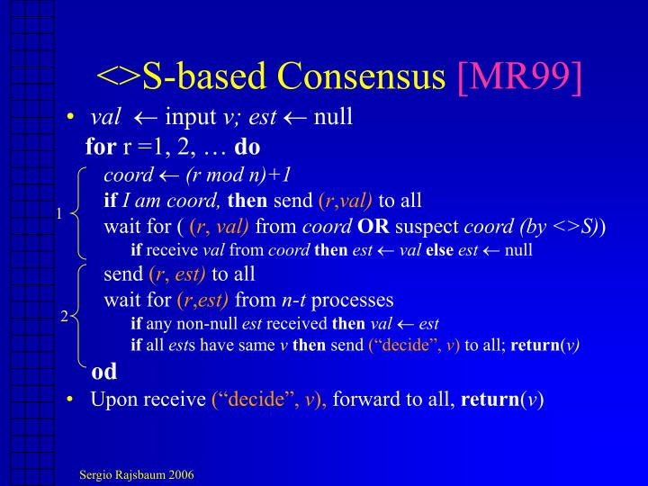 <>S-based Consensus