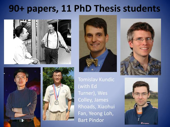 90 papers 11 phd thesis students