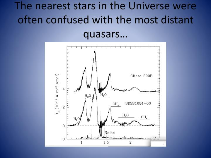 The nearest stars in the Universe were often confused with the most distant quasars…