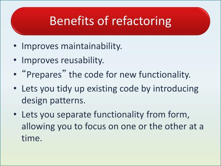 Tutorial :Advantages/Disadvantages of Refactoring Tools