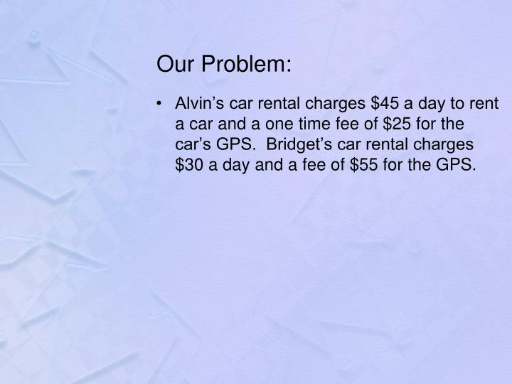 Our Problem: