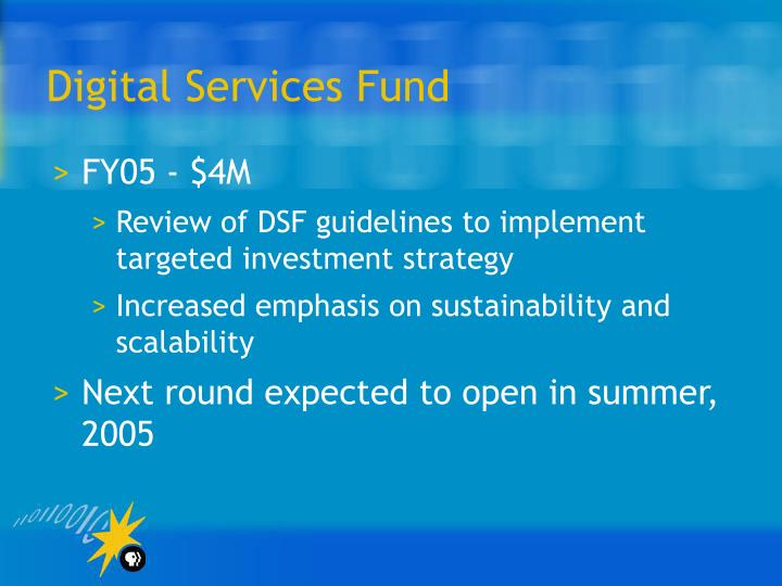 Digital Services Fund
