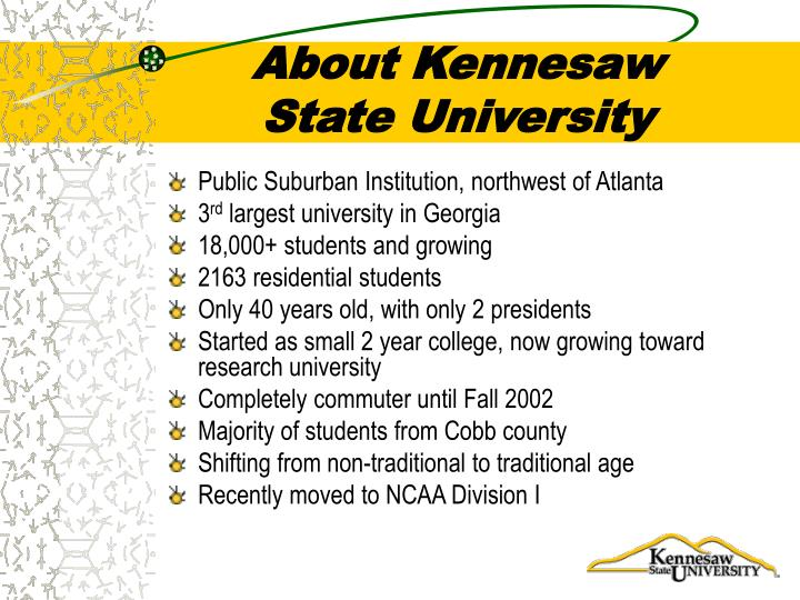About kennesaw state university
