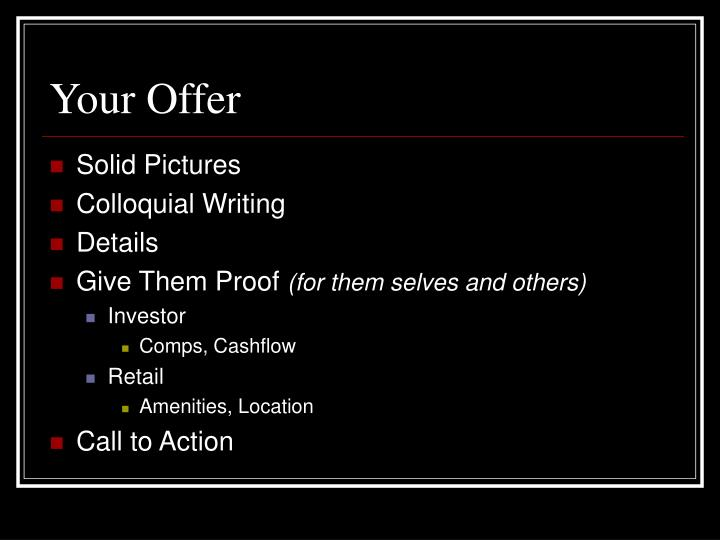 Your Offer