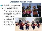 characteristics of africa