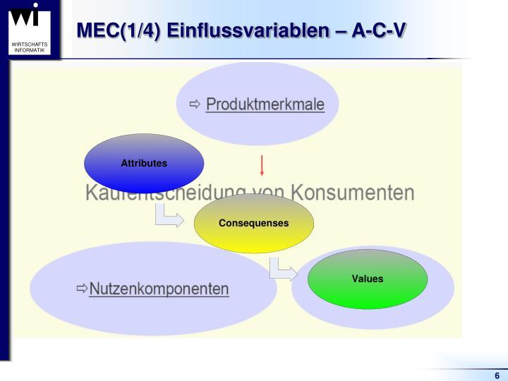 MEC(1/4) Einflussvariablen – A-C-V