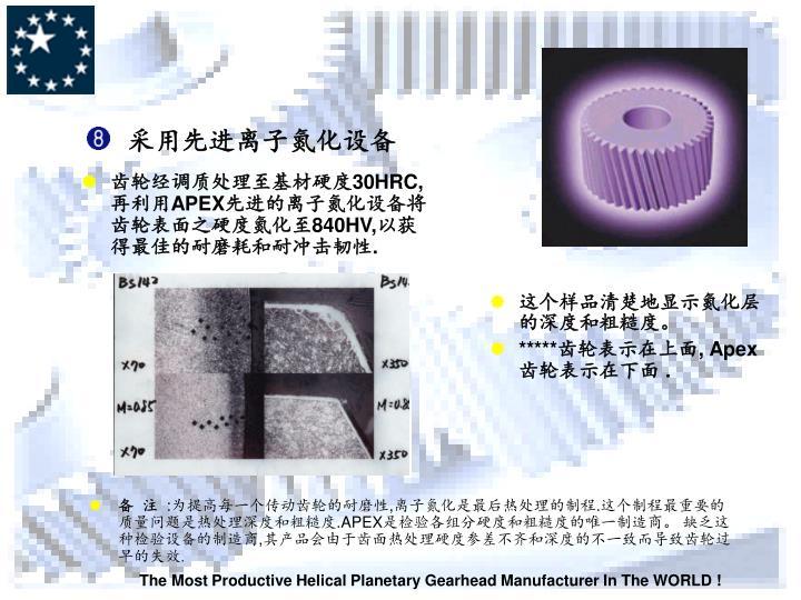 采用先进离子氮化设备