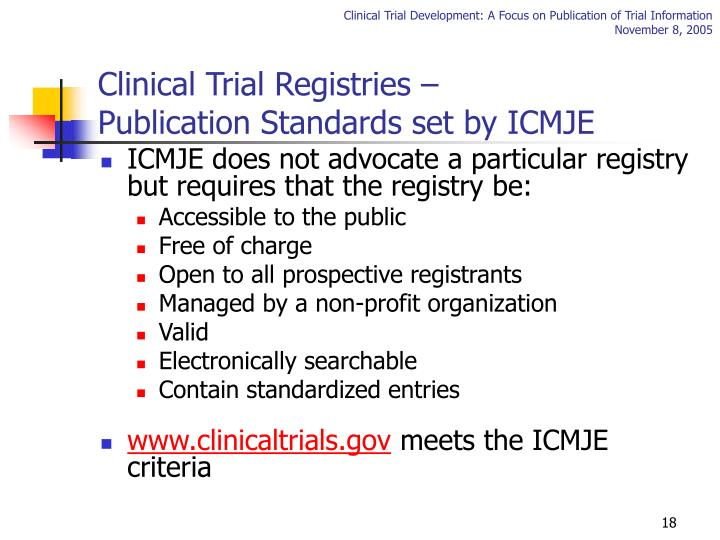 Clinical Trial Registries –