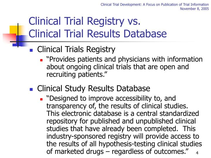 Clinical Trial Registry vs.