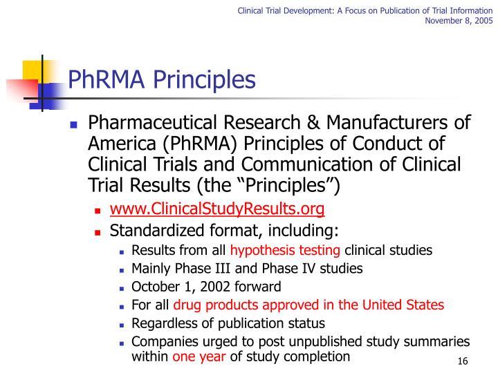 PhRMA Principles
