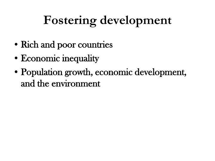 Fostering development