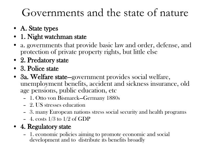 Governments and the state of nature