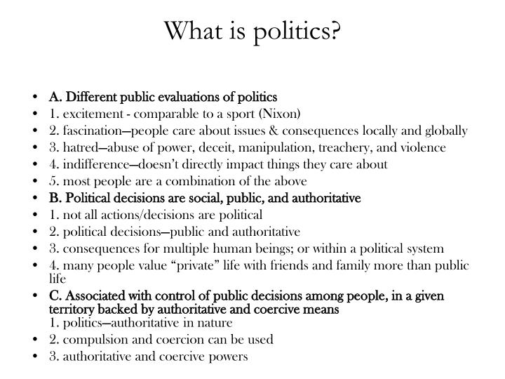 What is politics?