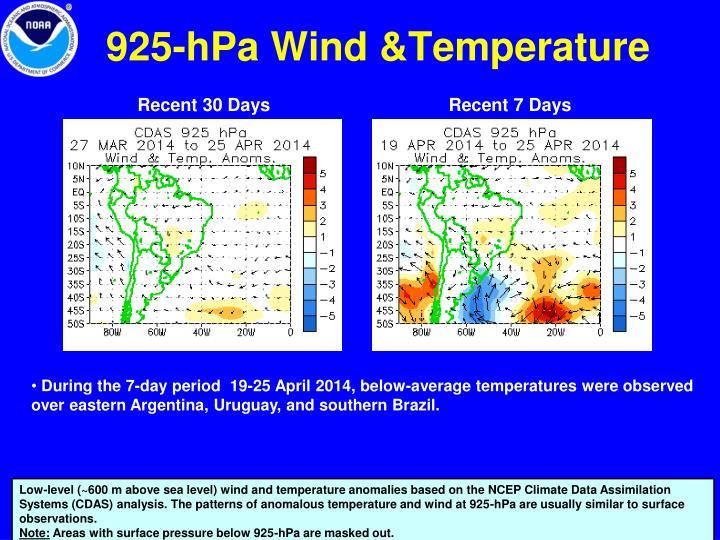 925-hPa Wind &Temperature