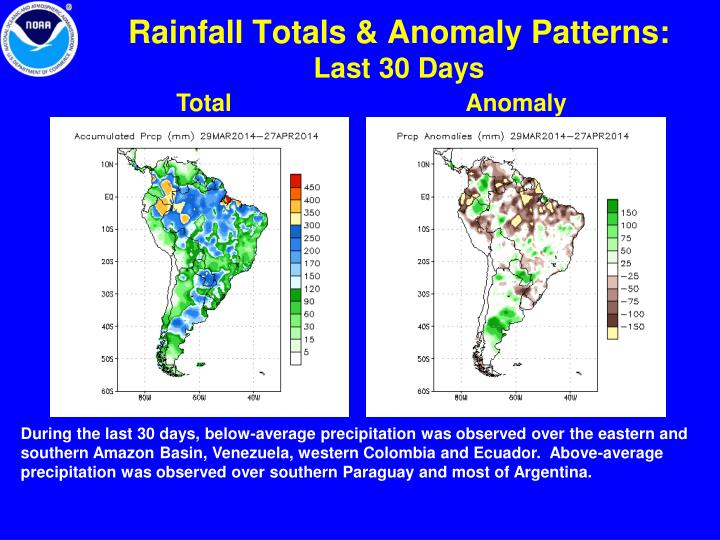 Rainfall Totals & Anomaly Patterns: