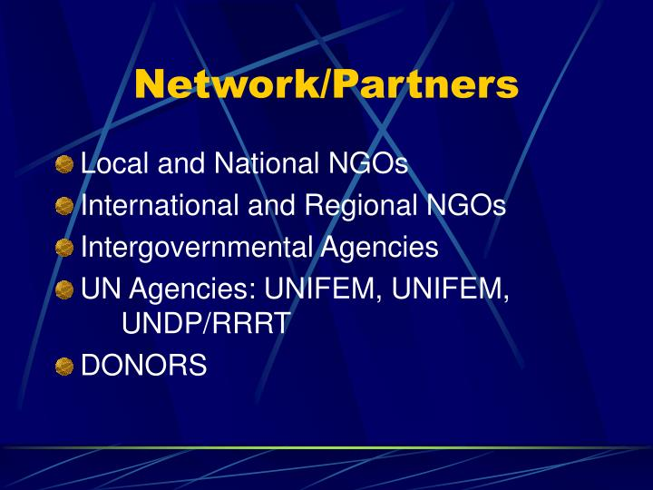 Network/Partners