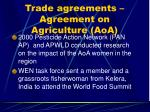 trade agreements agreement on agriculture aoa