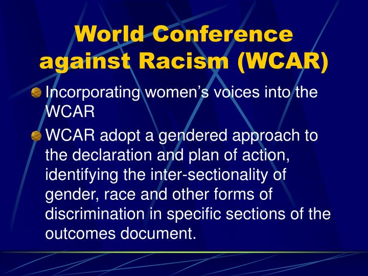 World Conference against Racism (WCAR)