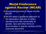 world conference against racism wcar