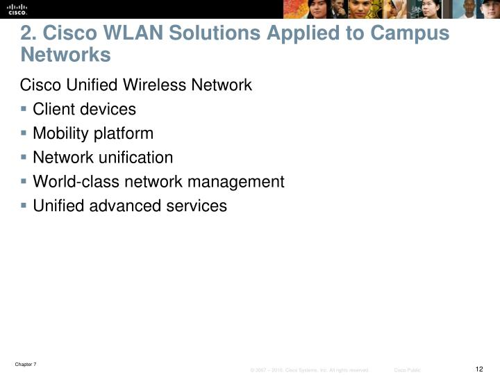 2. Cisco WLAN Solutions Applied to Campus Networks