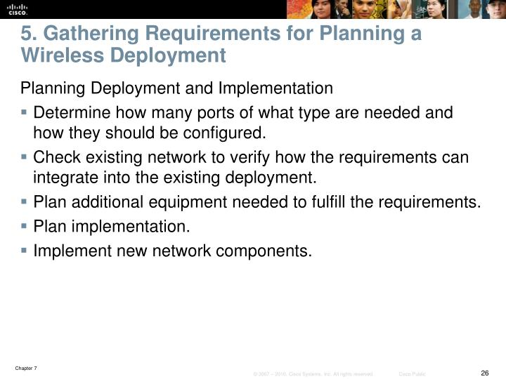 5. Gathering Requirements for Planning a Wireless Deployment