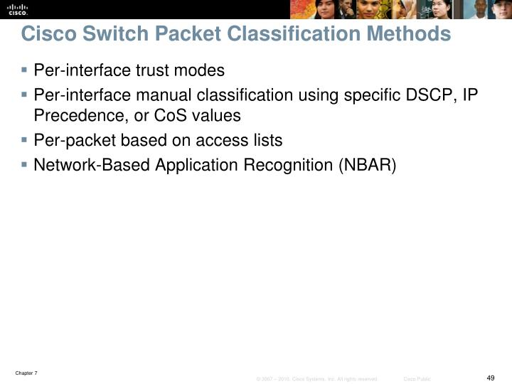 Cisco Switch Packet Classification Methods
