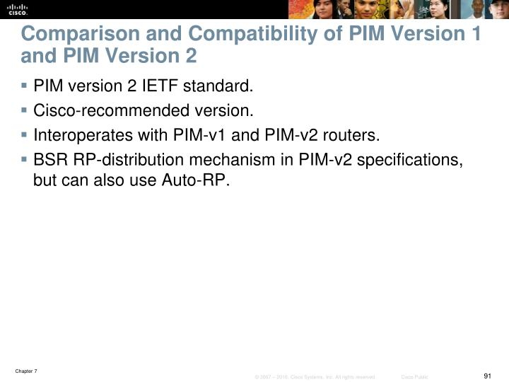 Comparison and Compatibility of PIM Version 1 and PIM Version 2