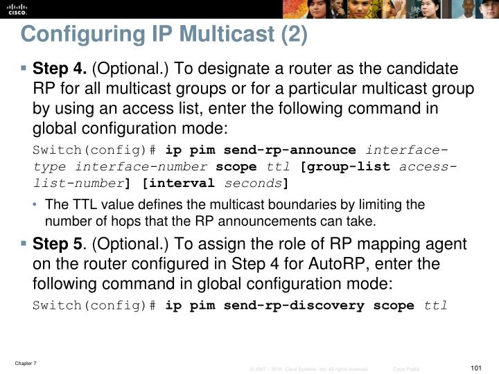 Configuring IP Multicast (2)