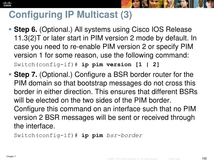 Configuring IP Multicast (3)