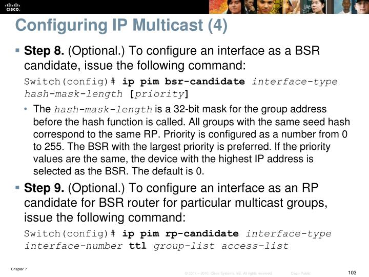 Configuring IP Multicast (4)