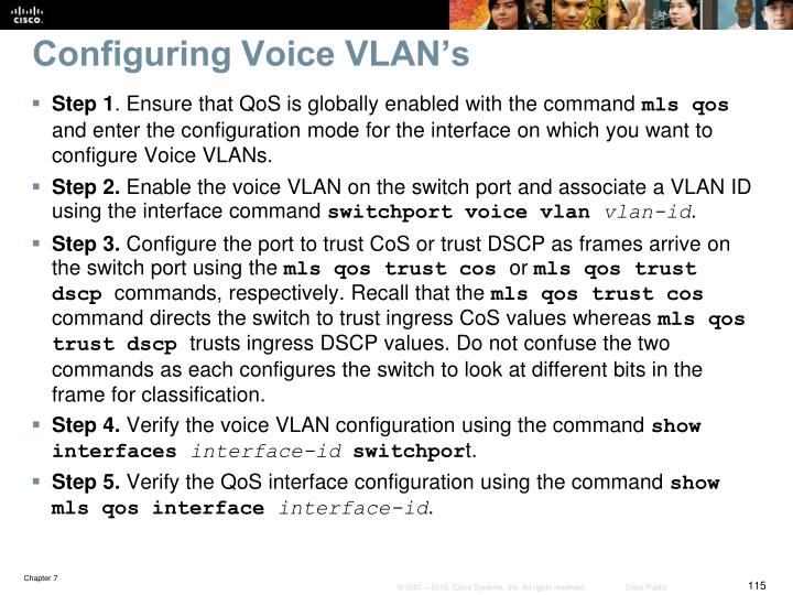 Configuring Voice VLAN's