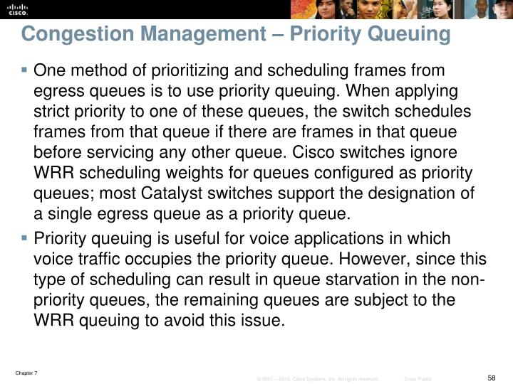 Congestion Management – Priority Queuing