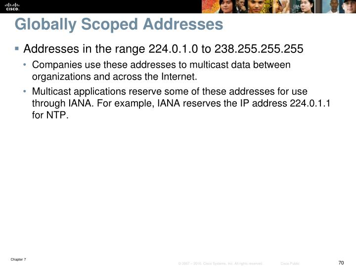 Globally Scoped Addresses